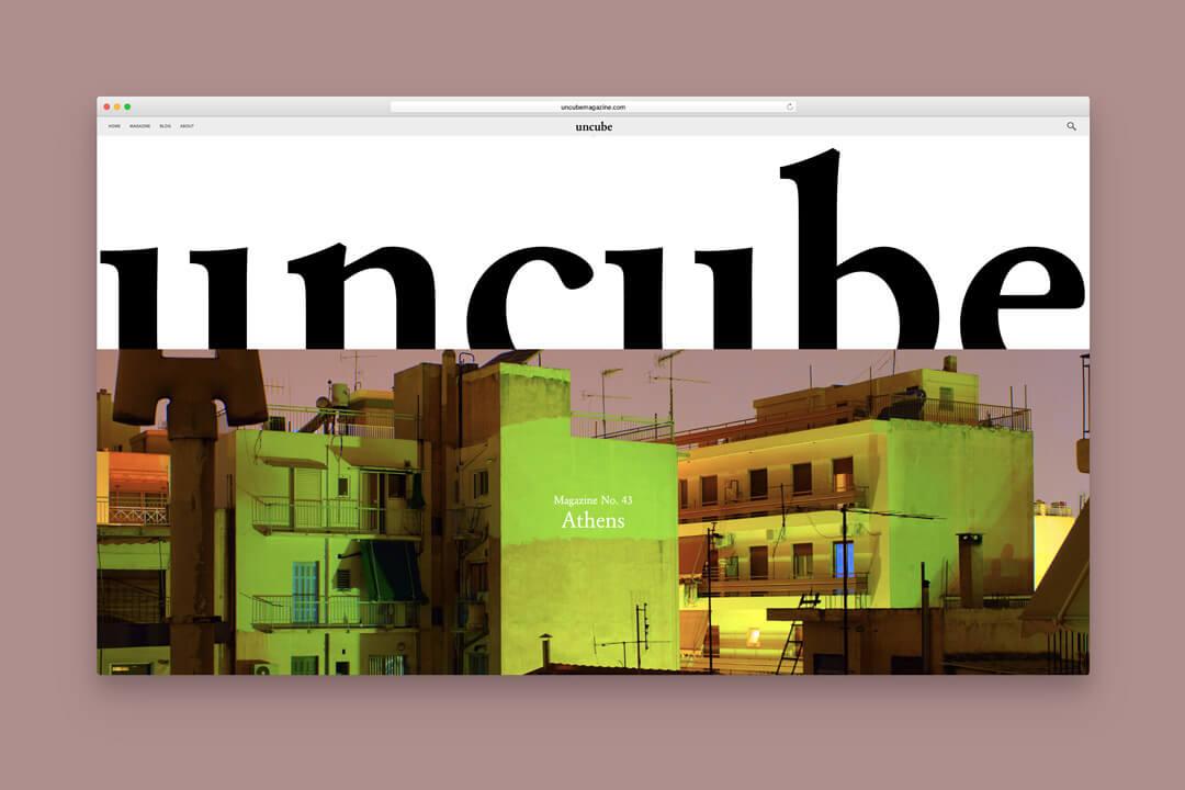 Screenshot uncube magazine vom BauNetz