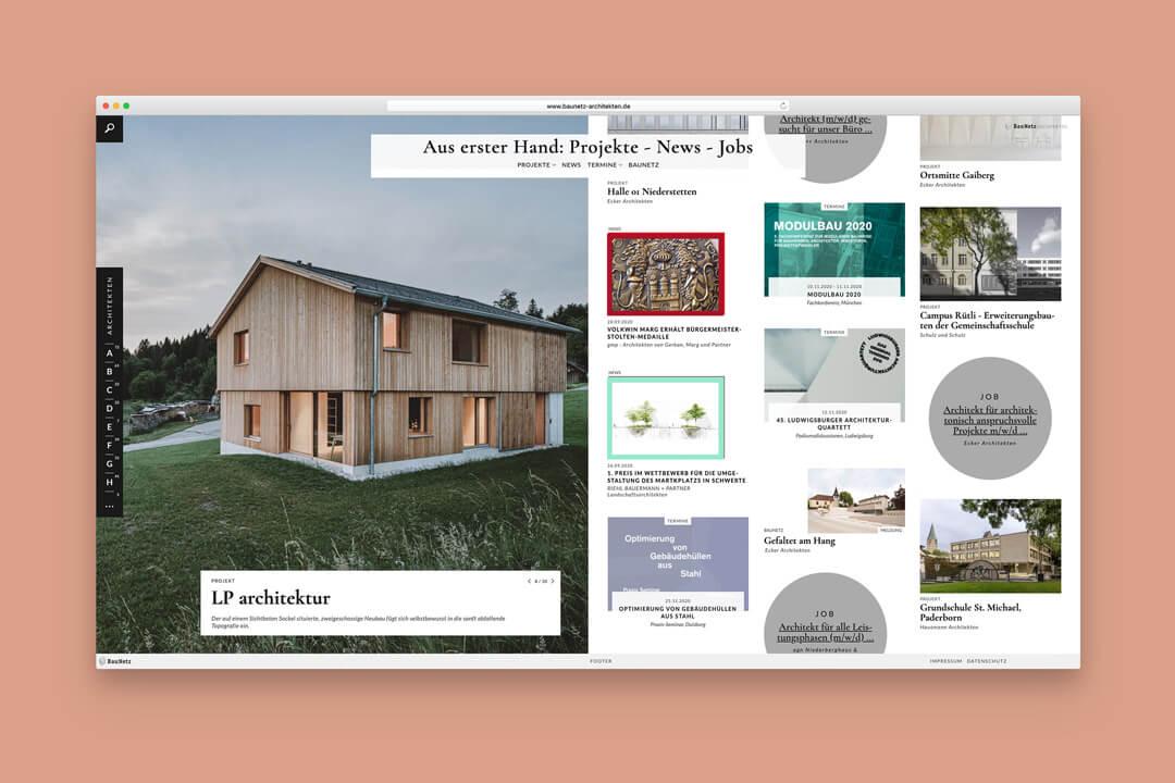 Screenshot BauNetz-Architektenprofile