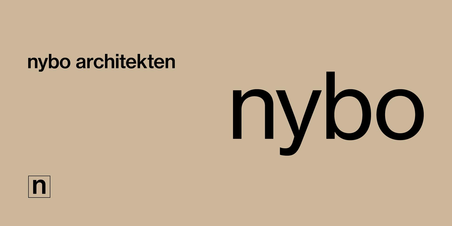 Die verschiedenen Logo-Varianten von nybo architekten