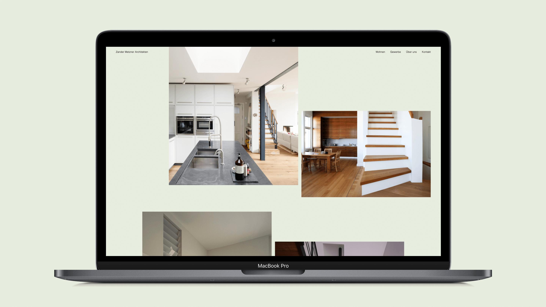 Küche und Eßbereich einer modernen Inneneinrichtung