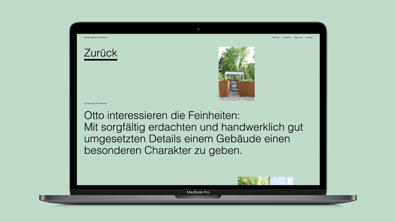 Text über die Arbeitsweise auf einem grünen Hintergrund