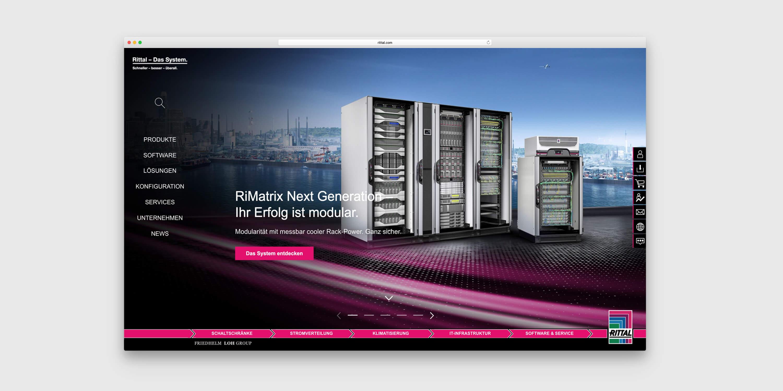 Offene System-Plattform RiMatrix von Rittal vor einer Skyline