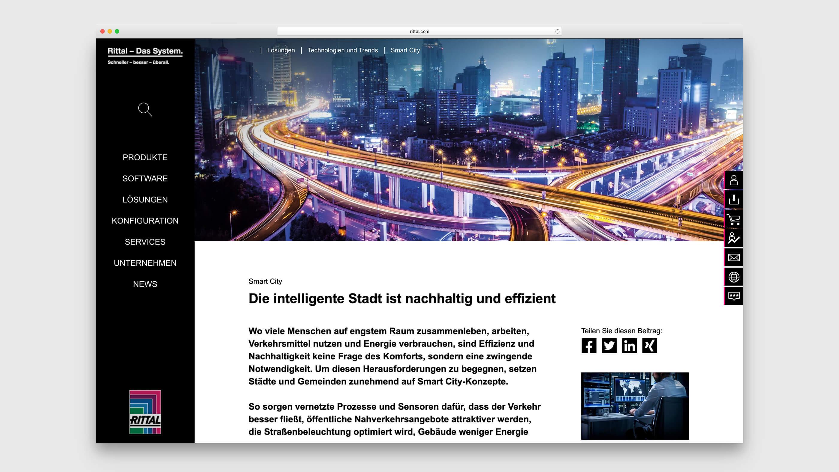 Metropole bei Nacht als Beispiel für Smart City