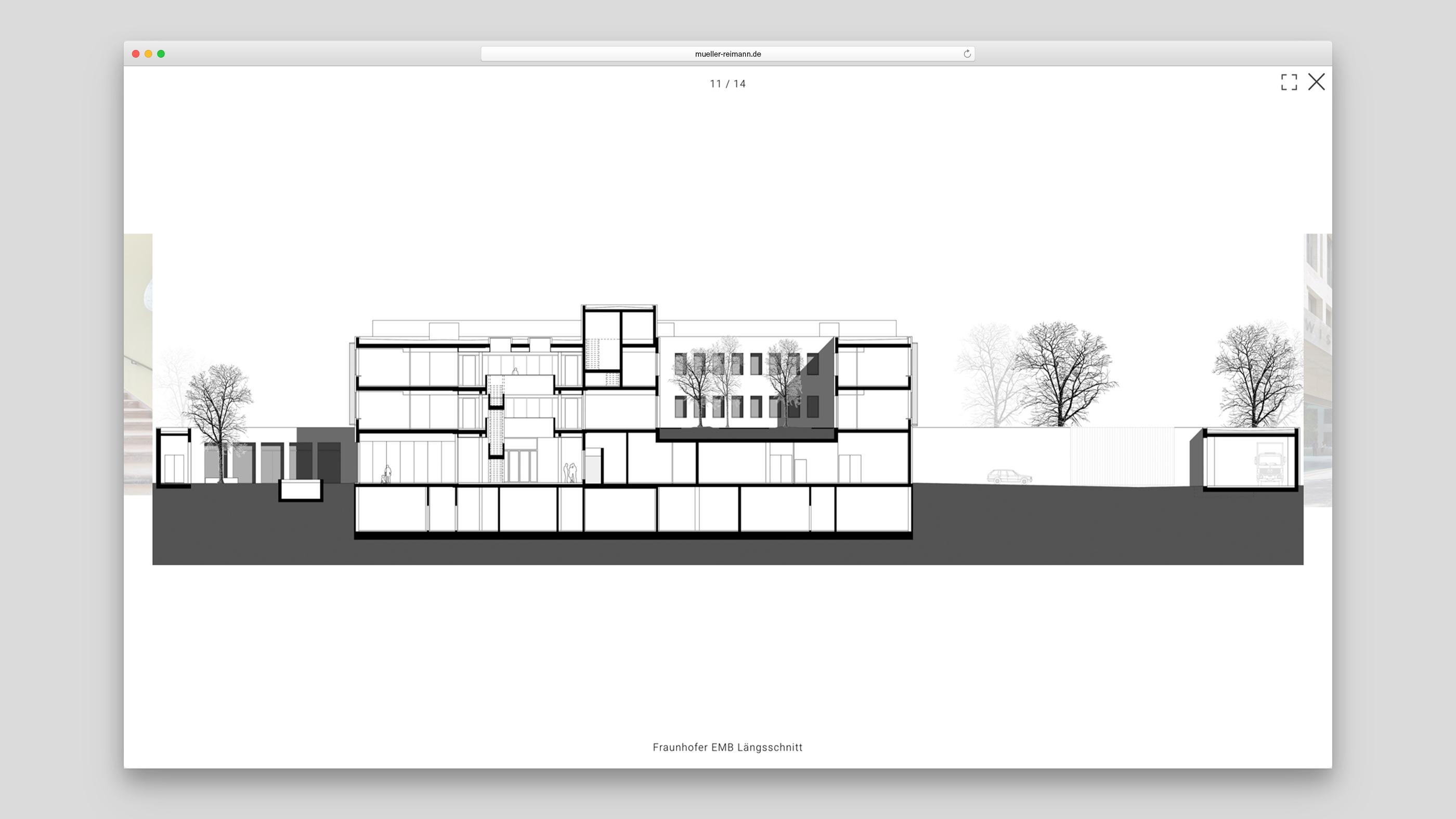 Architekturzeichnung der Frauenhofer Einrichtung Marine Biotechnologie