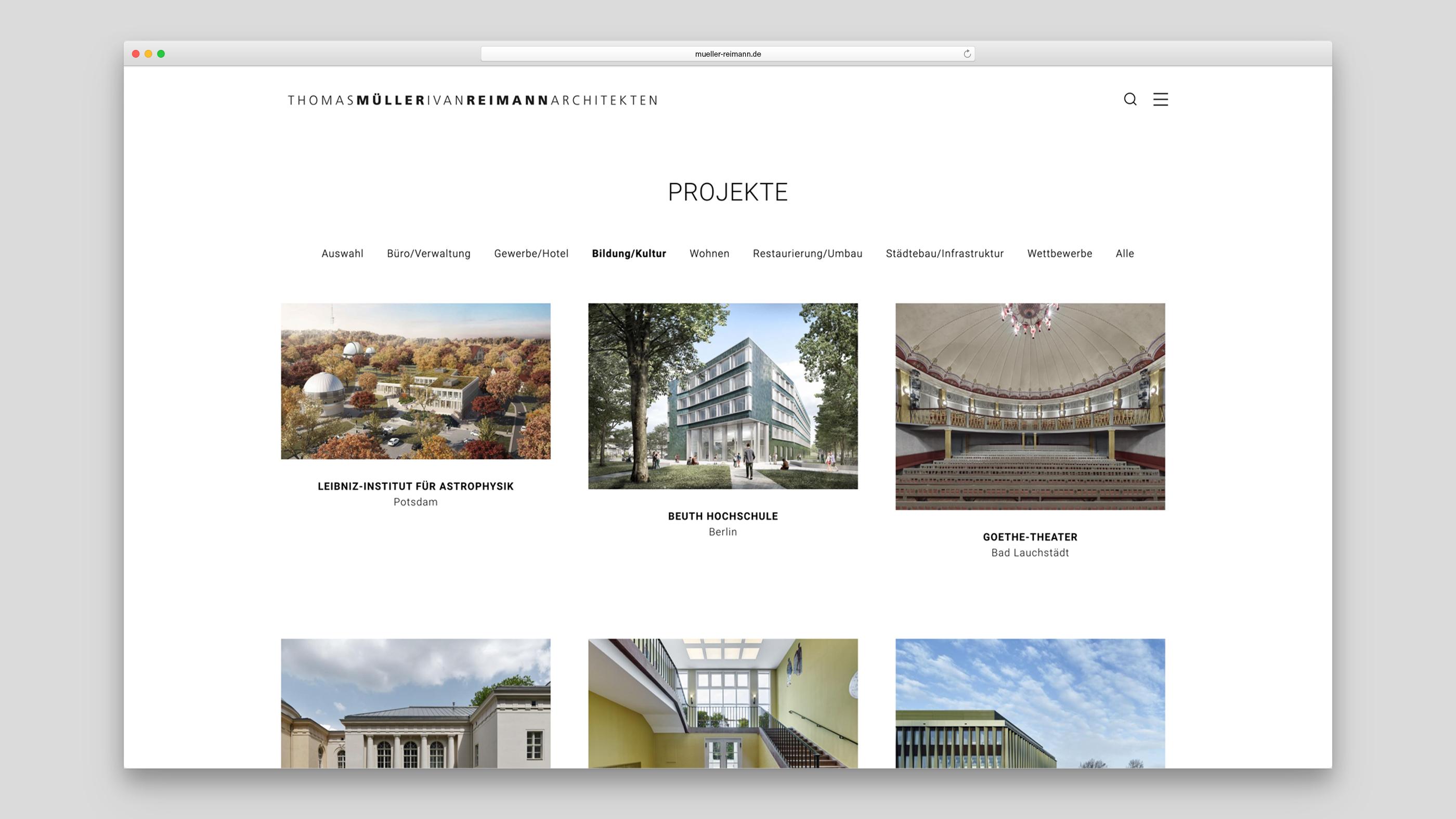Gebäudeauswahl Projekte Bildung/Kultur
