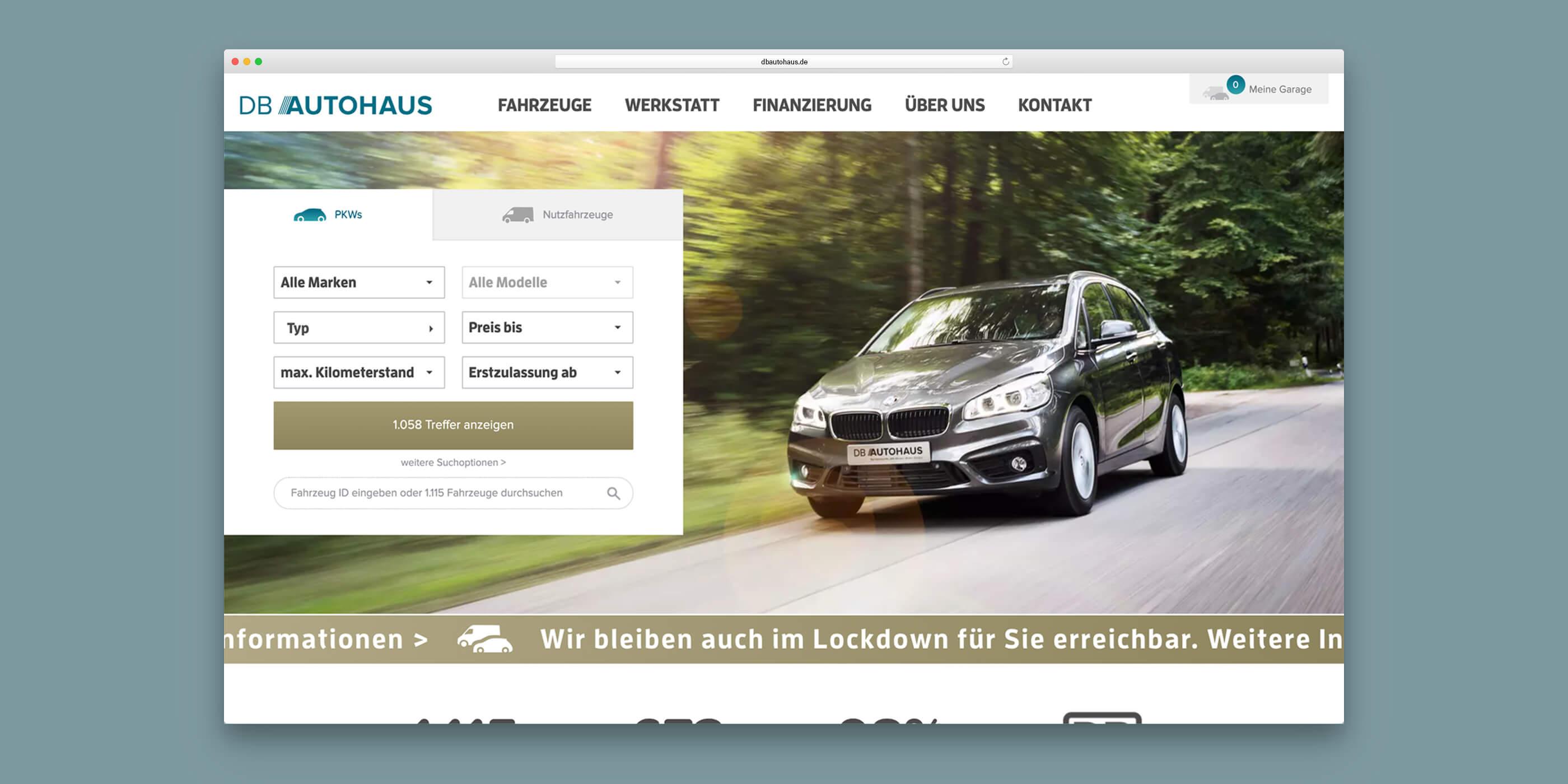 Startseite von DB Autohaus