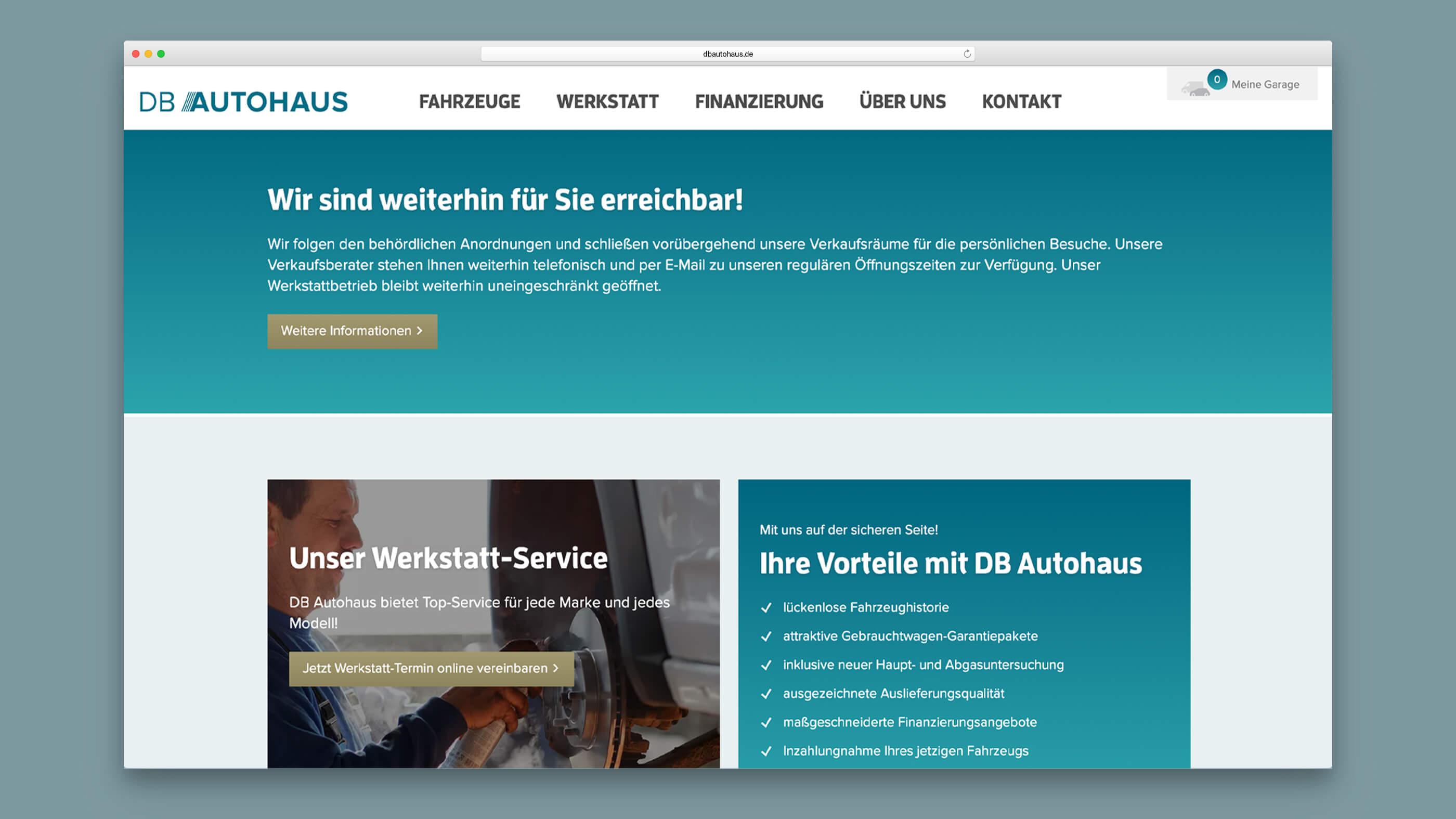 Informationsseite von DB Autohaus