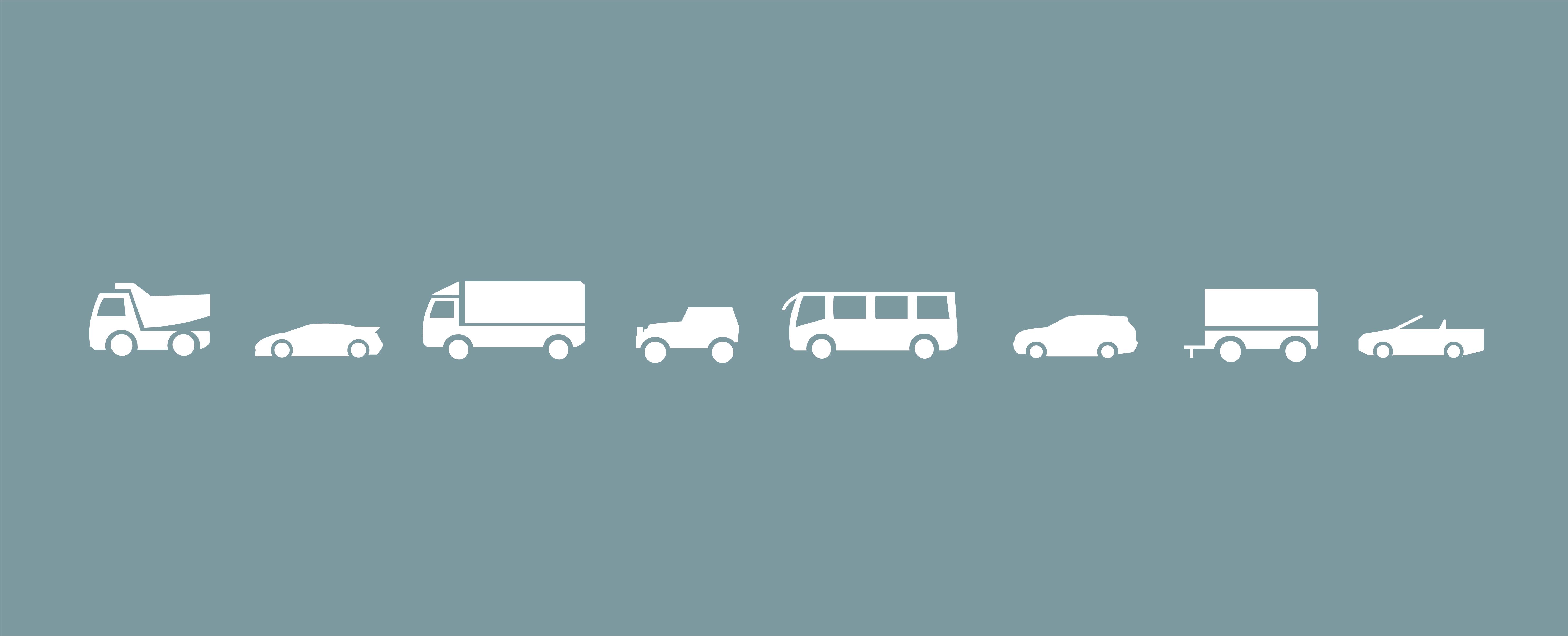 Illustrationen von Fahrzeugen für DB Autohaus