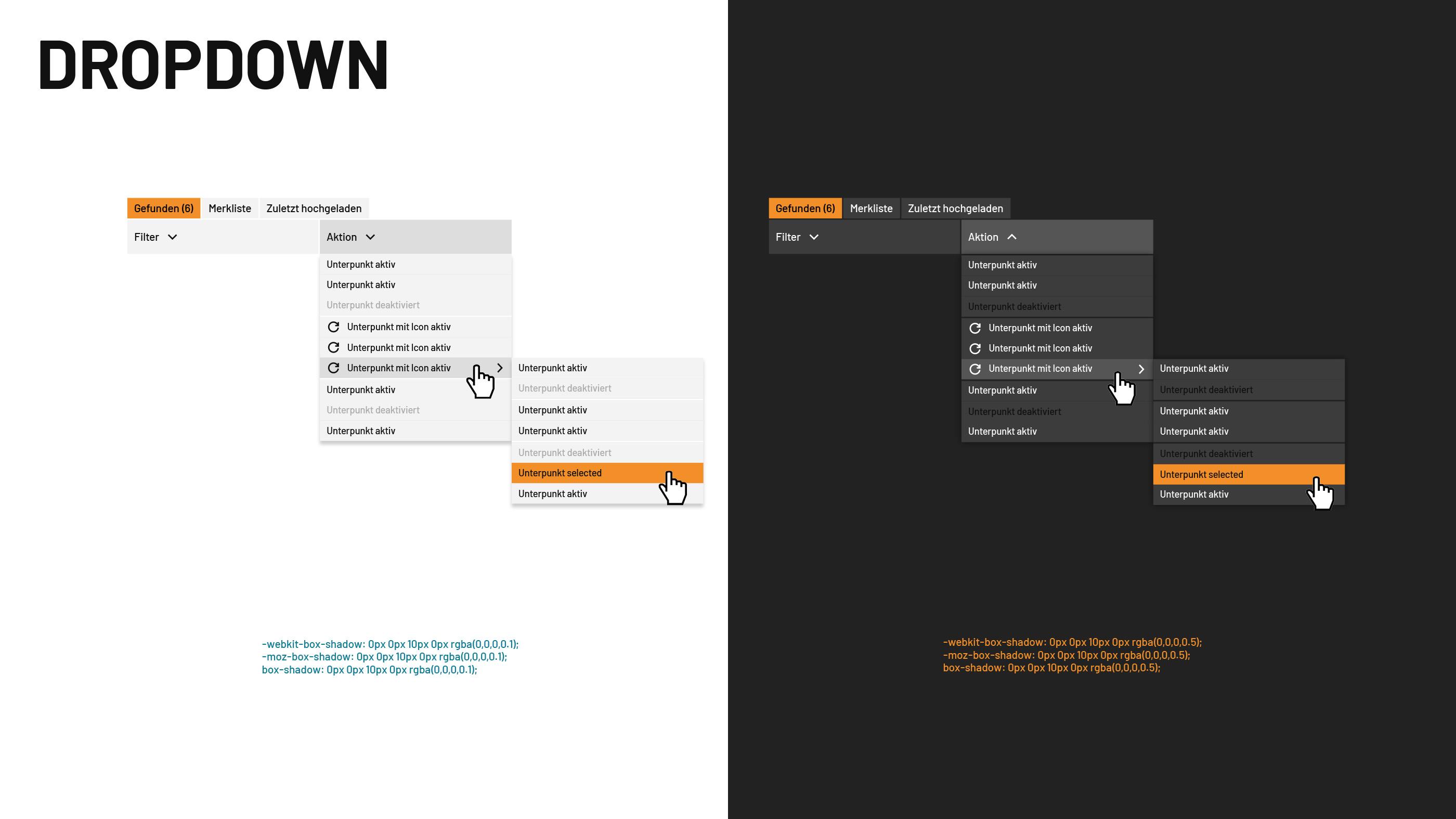 Detailausschnitt des GUI des Media Asset Management Systems von SixOMC