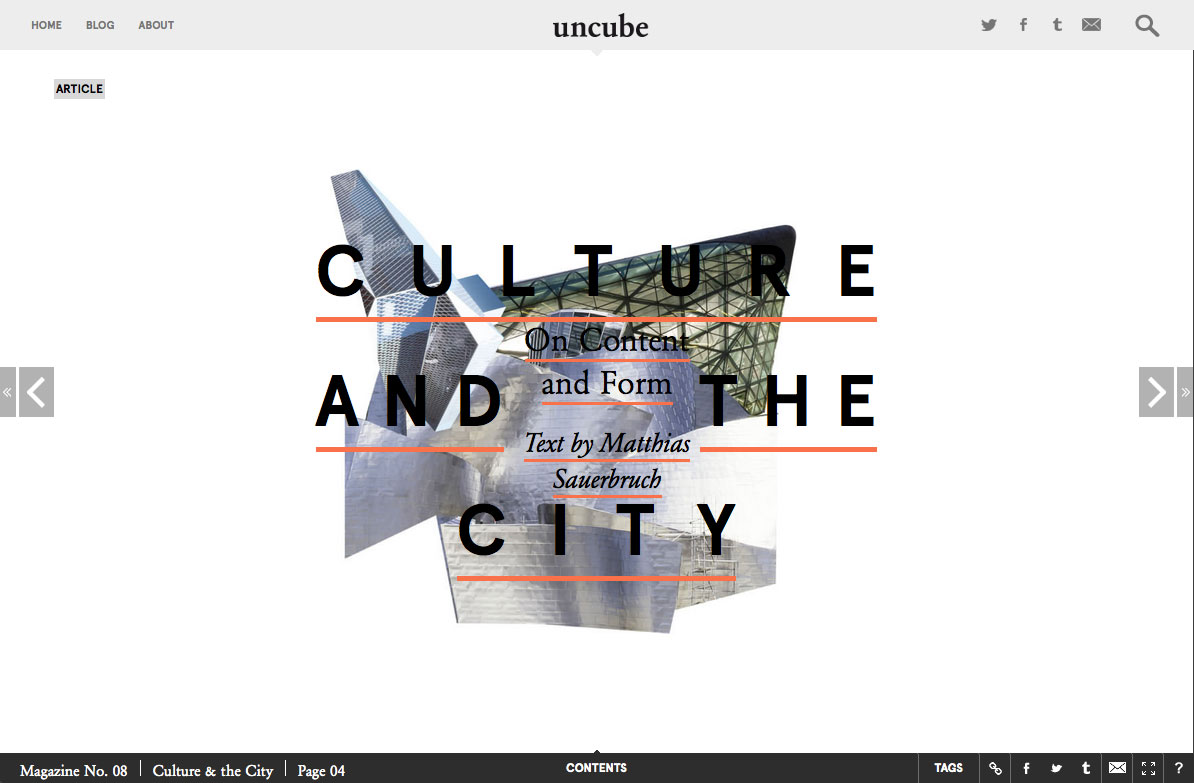 Culture and the City uncube magazine issue 08
