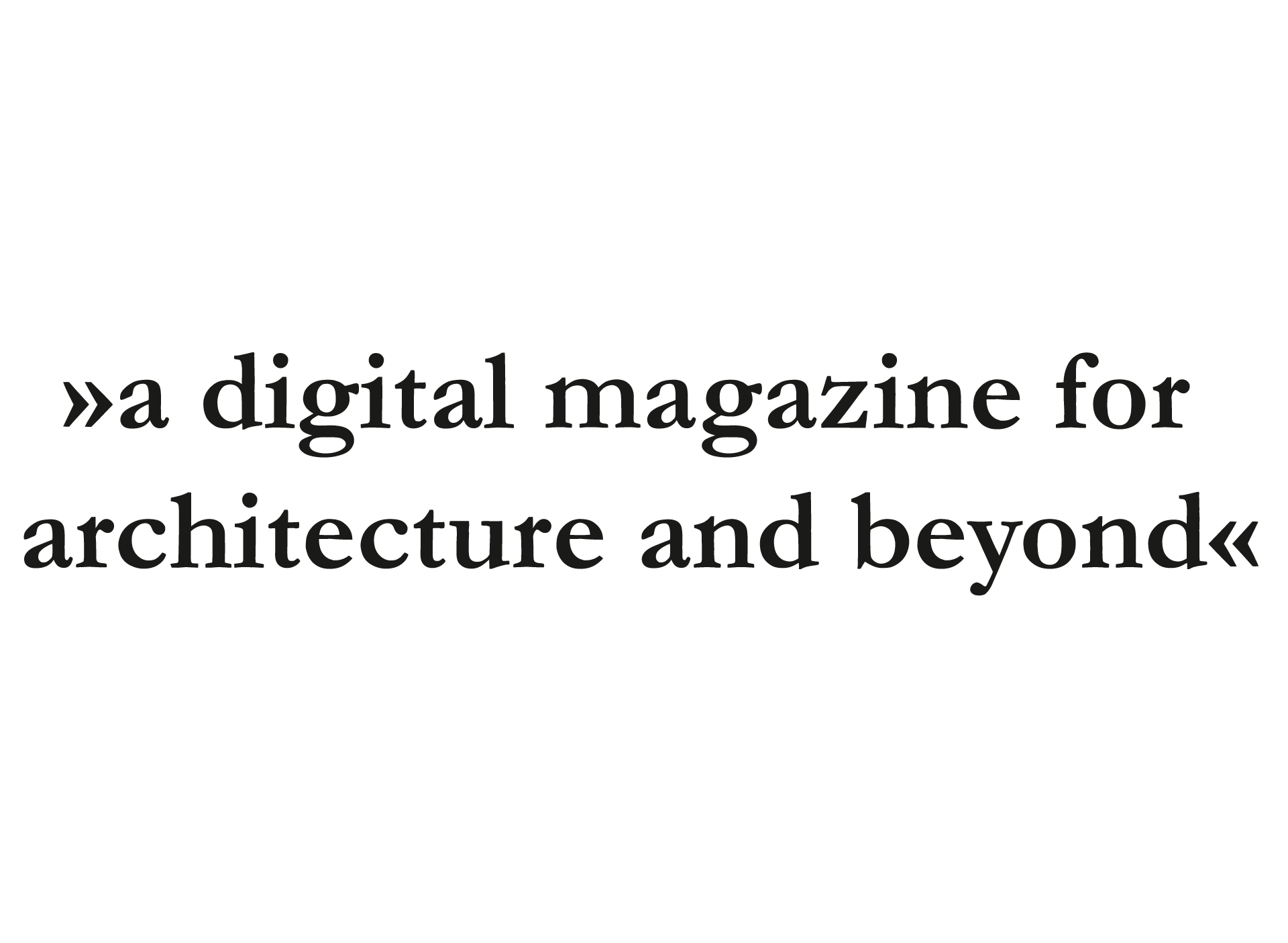 Uncube »a digital magazine for architecture and beyond«