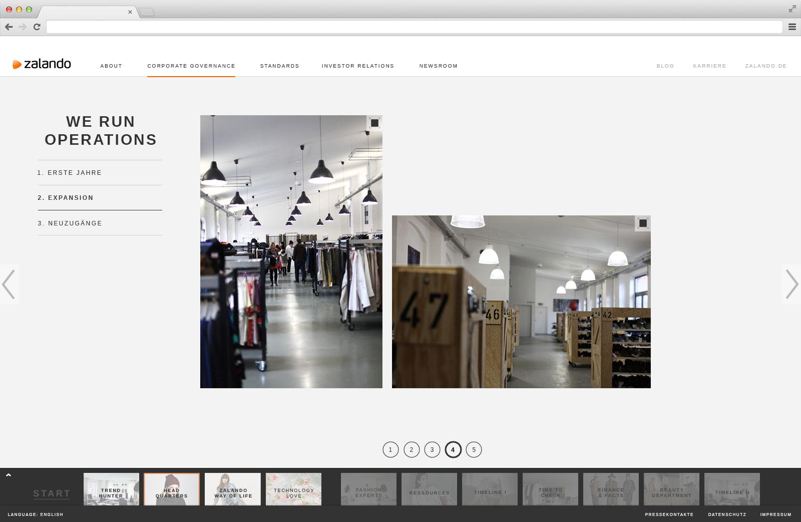 Zalando Corporate Site 04