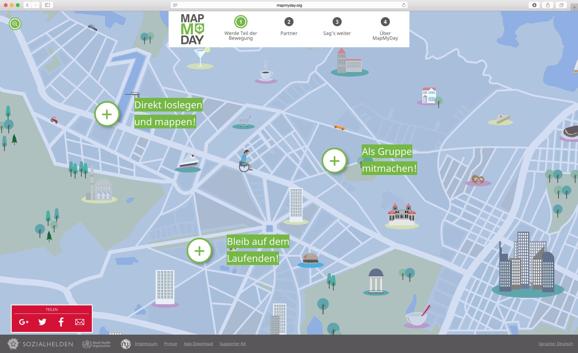 MapMyDay Screen