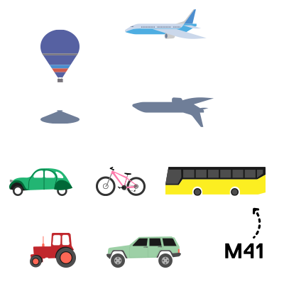 MapMyDay Illustrationen Verkehrsmittel