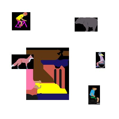 MapMyDay Illustrationen Menschen