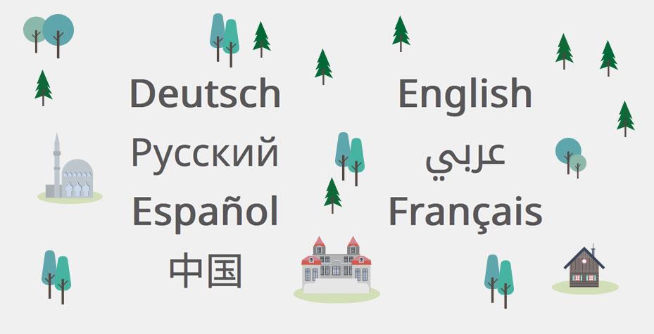 MapMyDay Illustrationen Sprachen