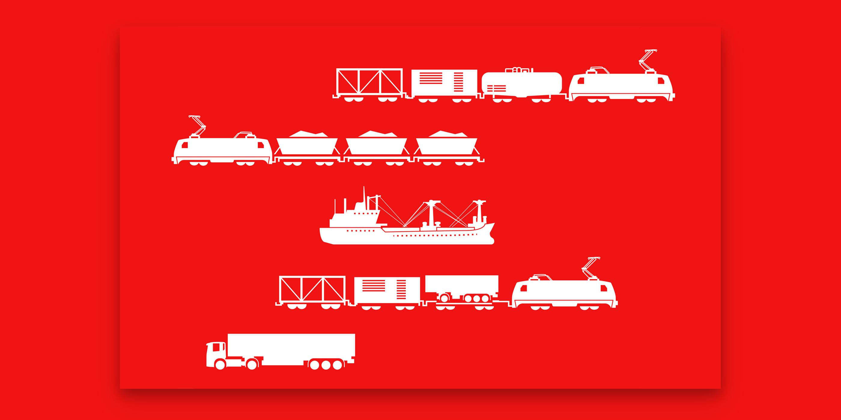 Grafiken der Verkehrsmittel von DB Cargo