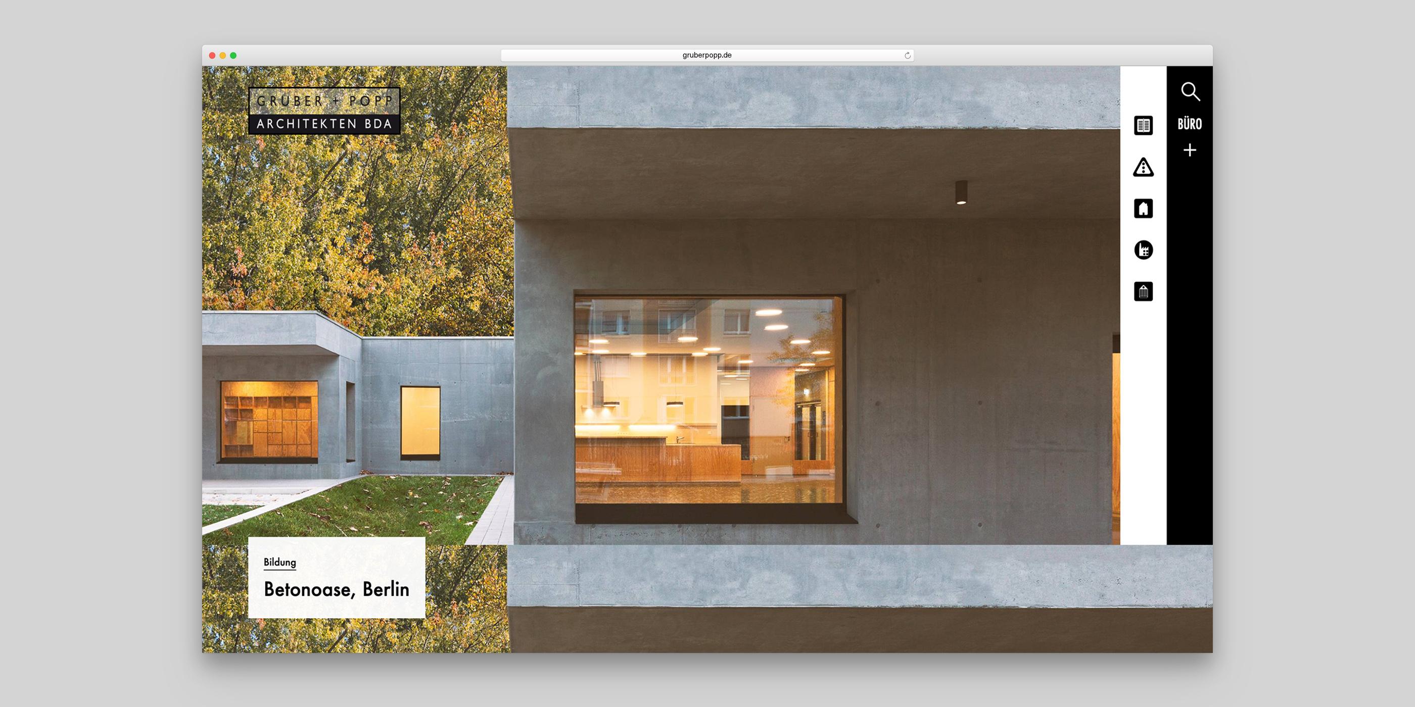 Fassadenansicht des Projektes Betonnase von Gruber und Popp