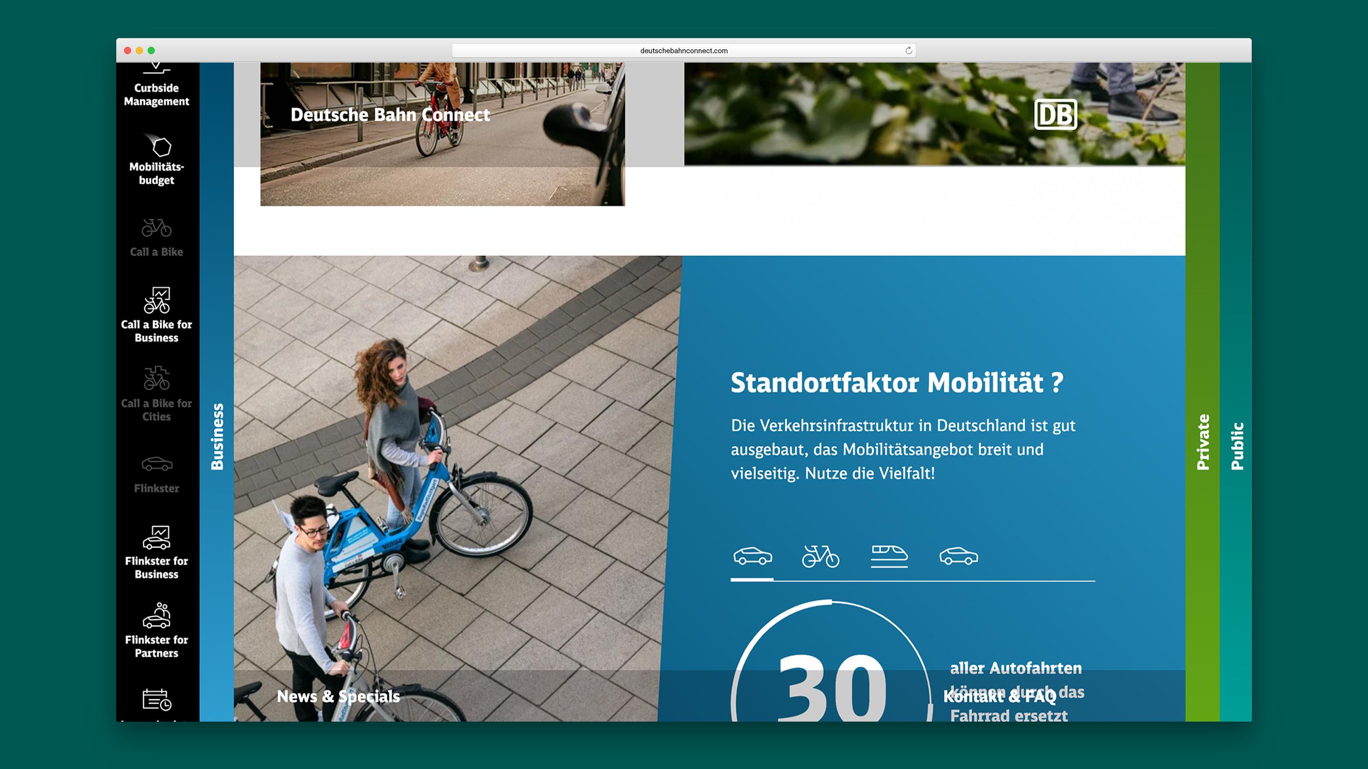 Zeri Personen, die ihr Fahrrad schieben und Infografik zur Mobilität