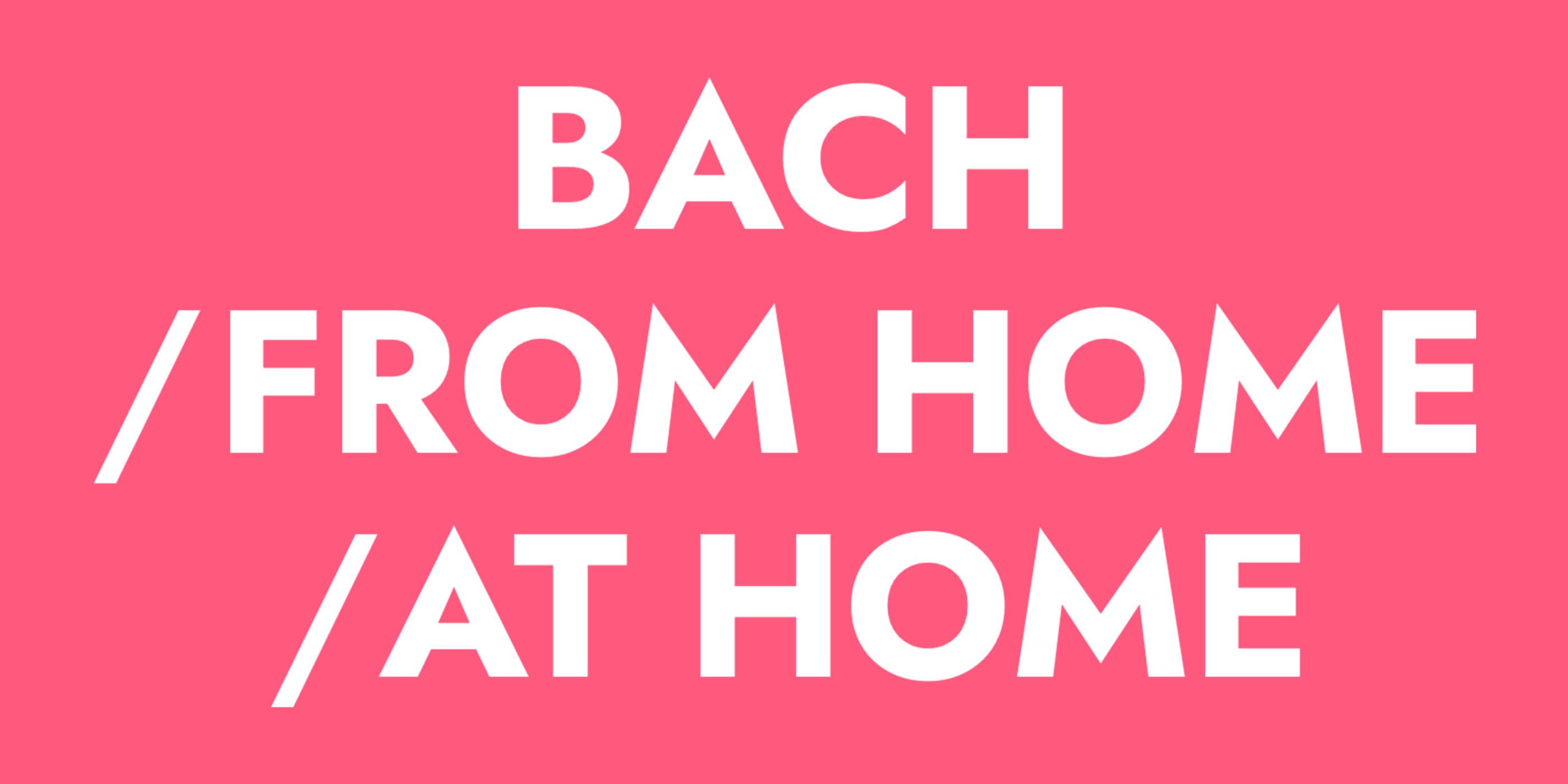 Die BIldmarke / Logo für Bach From Home At Home