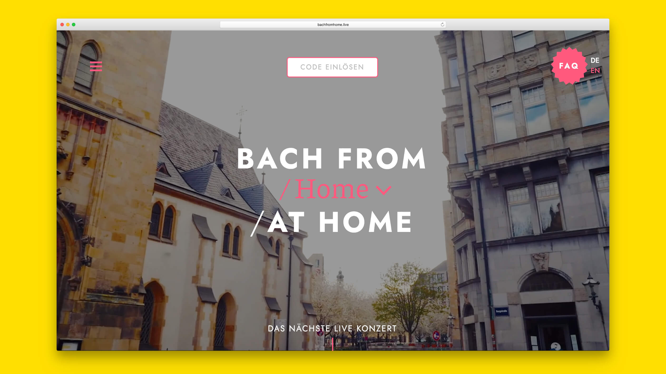 Startseite Bach From Home