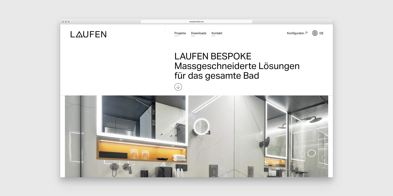 Screenshot Startseite LAUFEN Bespoke