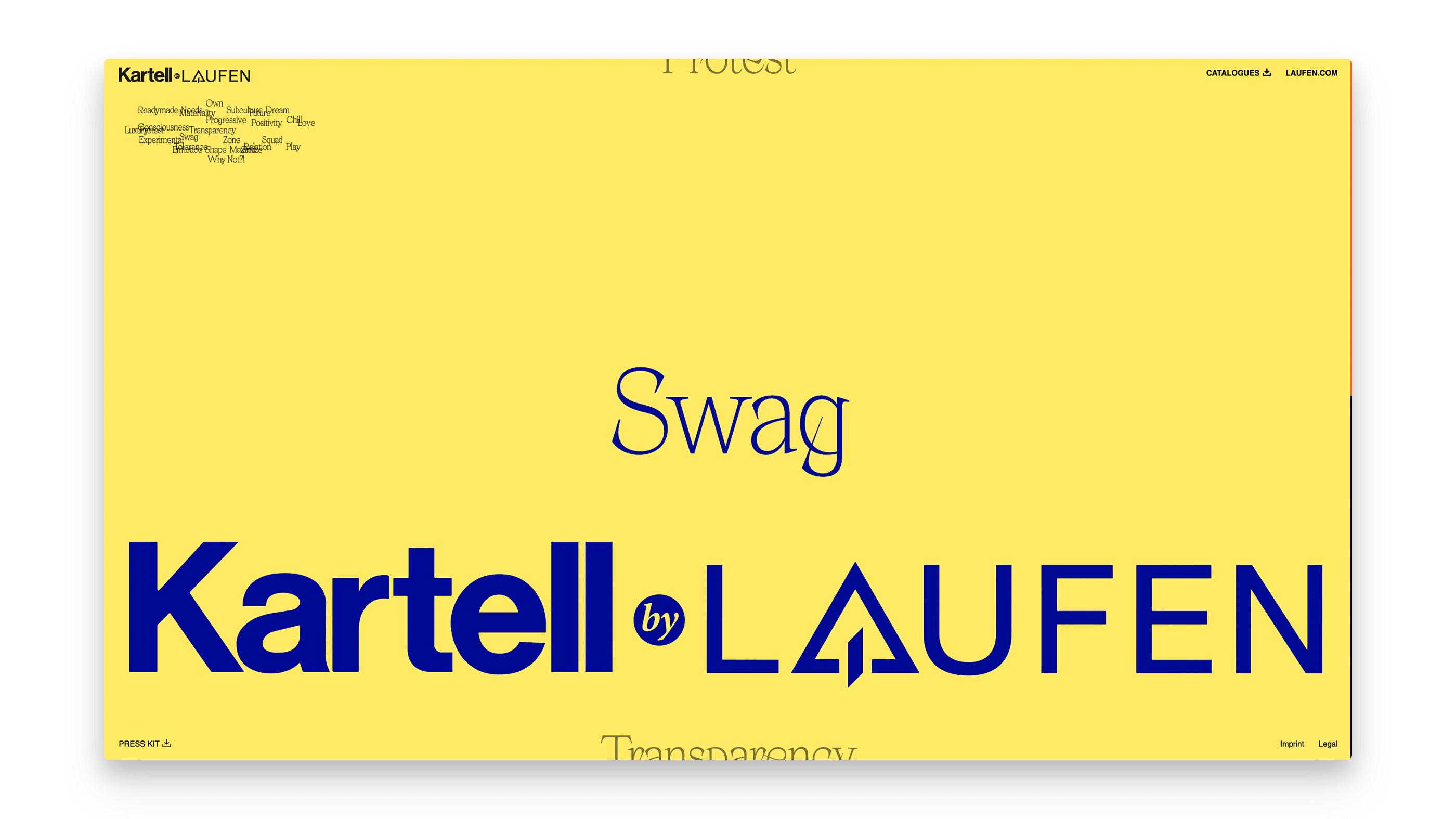 Screenshot für die Projektdokumentation Kartell by Laufen auf henkelhiedl.com