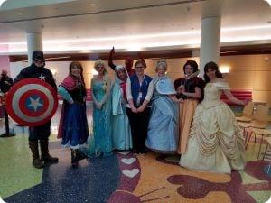 Captain America with children