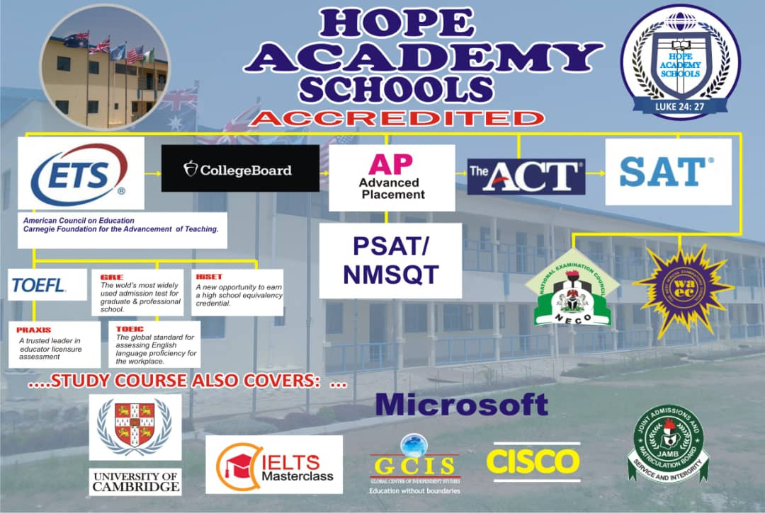 Hope Academy Accredited Diagram