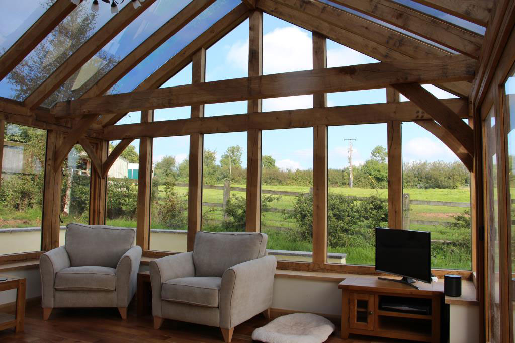 Oak Conservatory Construction in Poughill