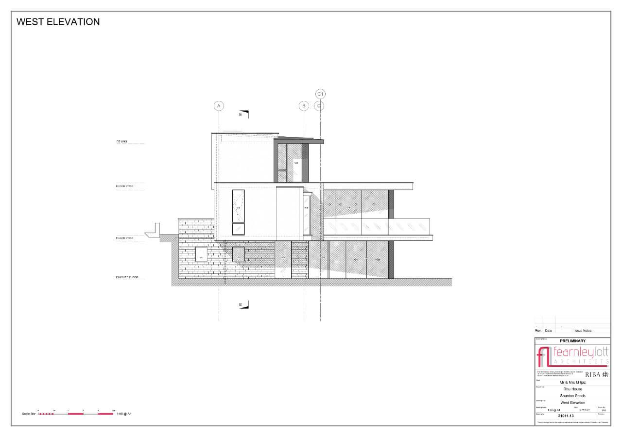 Rhu House West Elevation
