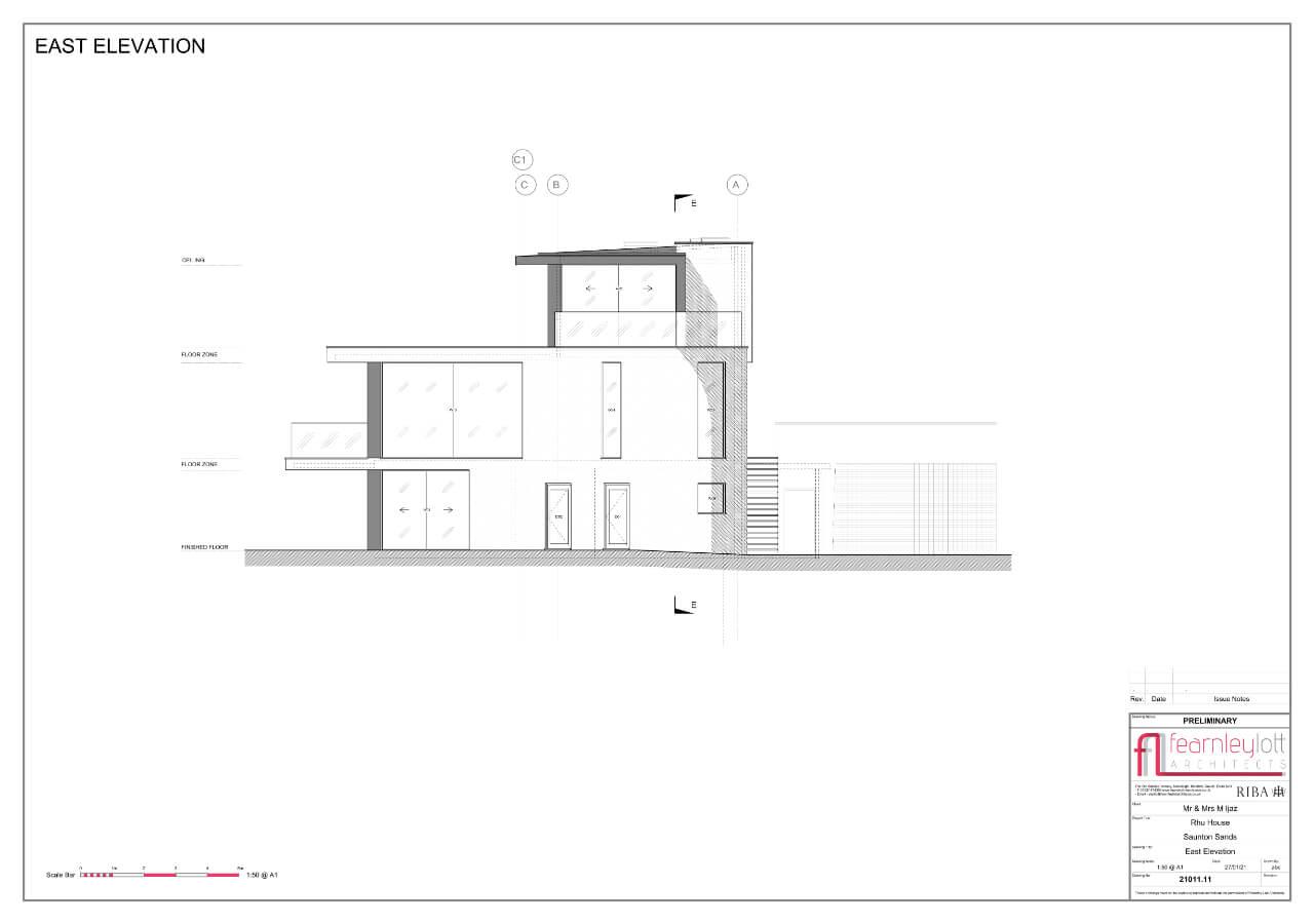Rhu House East Elevation