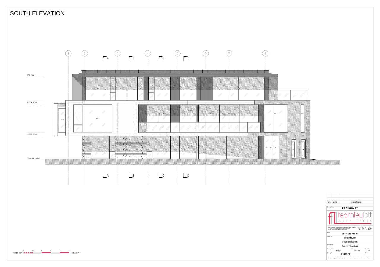 Rhu House South Elevation