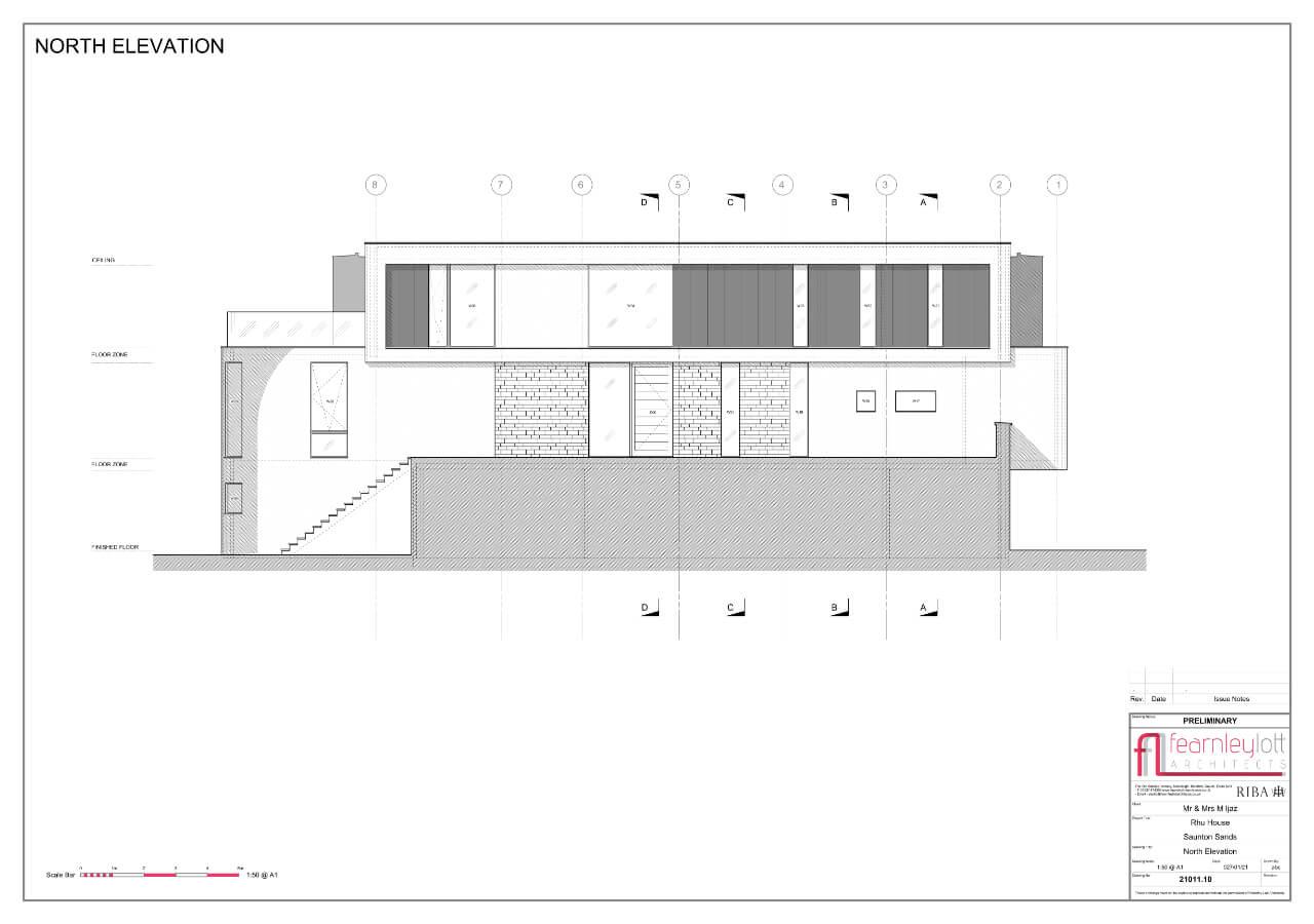Rhu House North Elevation