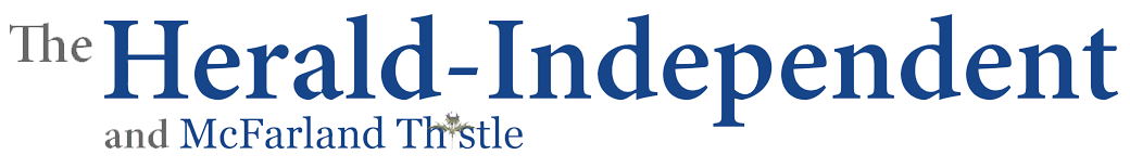 the herald-independent and McFarland Thistle logo