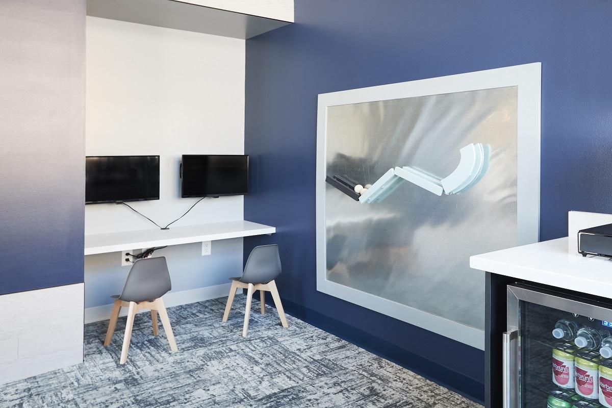 trendy interior space