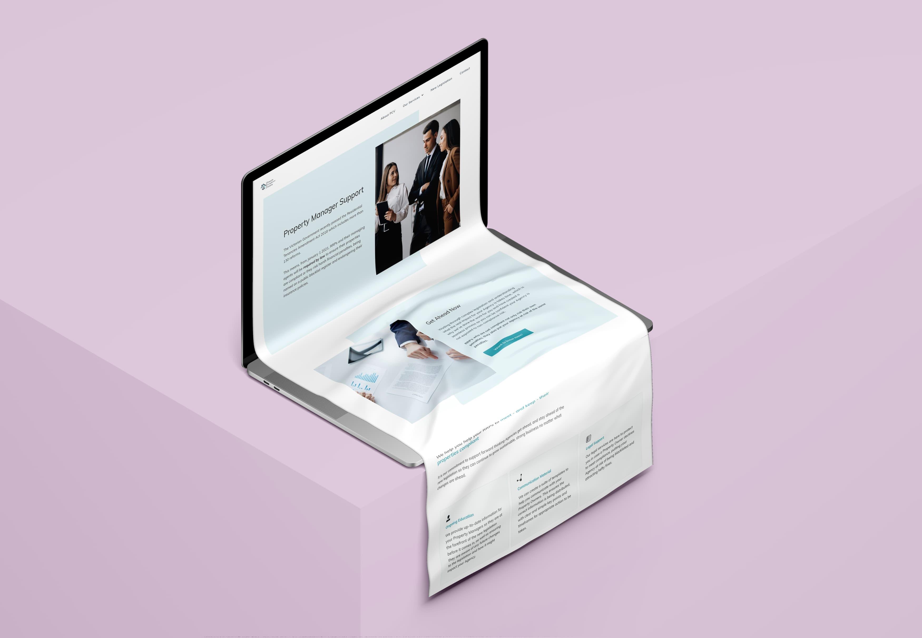 Webdesign PCV on Webflow