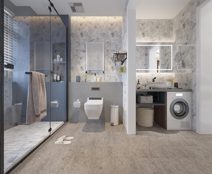 Terrazzo Grey Stone Luxury Impervia® Tile