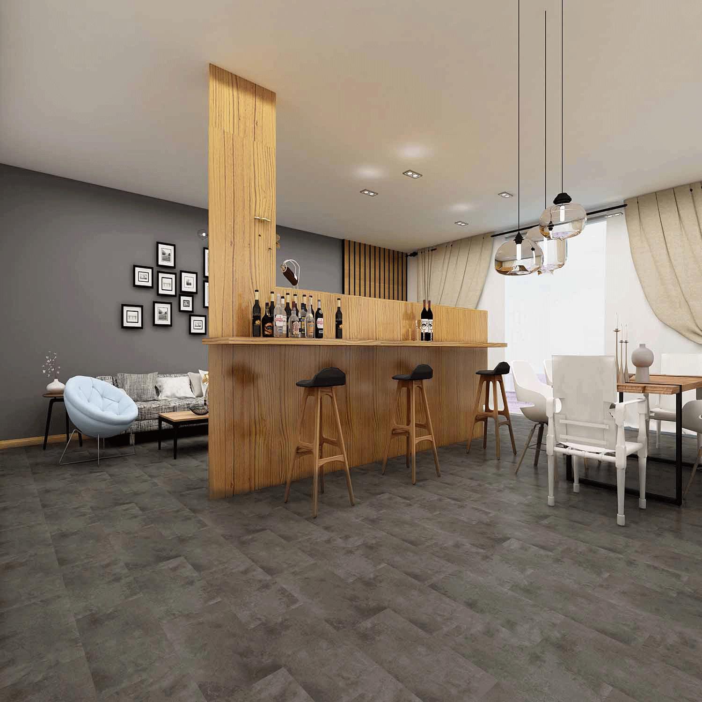 Impervia Commercial Slate Grey Marble Tiles Luxury Vinyl Flooring