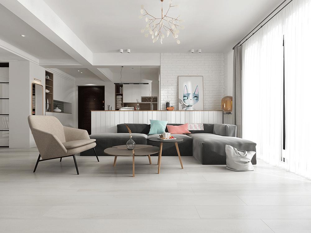 Impervia Pure White Oak luxury Vinyl Flooring