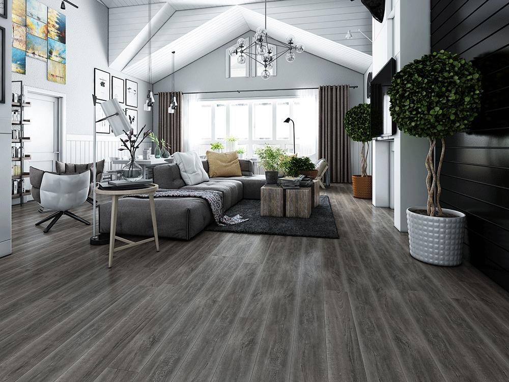 Impervia Dark Grey Oak luxury Vinyl Flooring