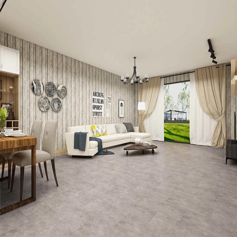 Impervia Commercial Titanium Grey Marble Tiles Luxury Vinyl Flooring