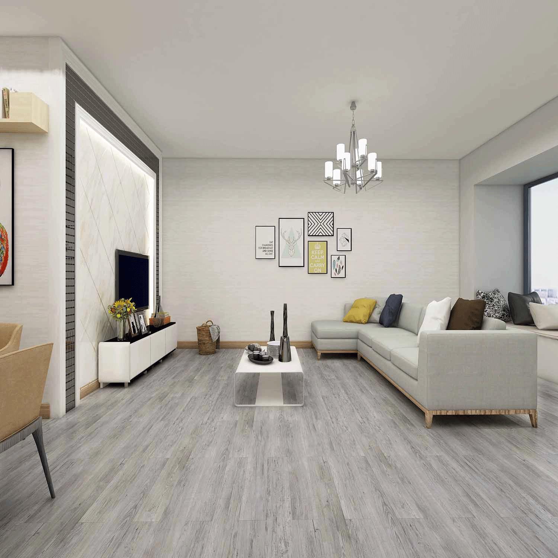 Impervia Commercial Silver Grey Oak Luxury Vinyl Flooring