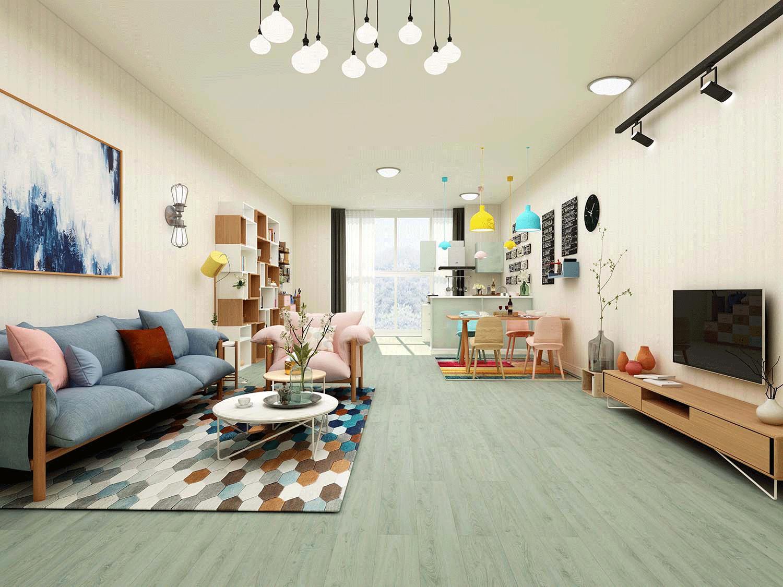 Impervia Commercial Green Grey Oak Luxury Vinyl Flooring