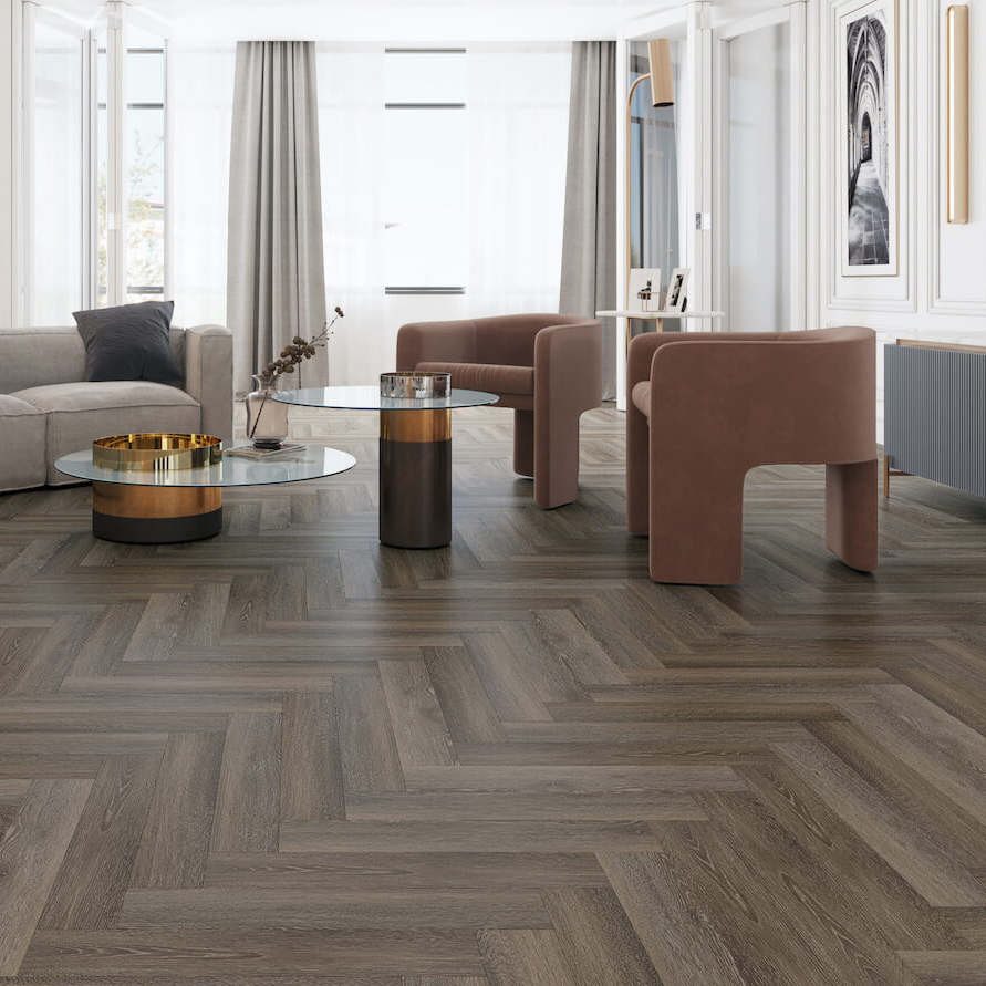 Impervia® Herringbone Cobble Grey Oak