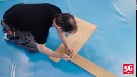 How to fit click-lock Herringbone Parquet Flooring using the Valinge 5G system