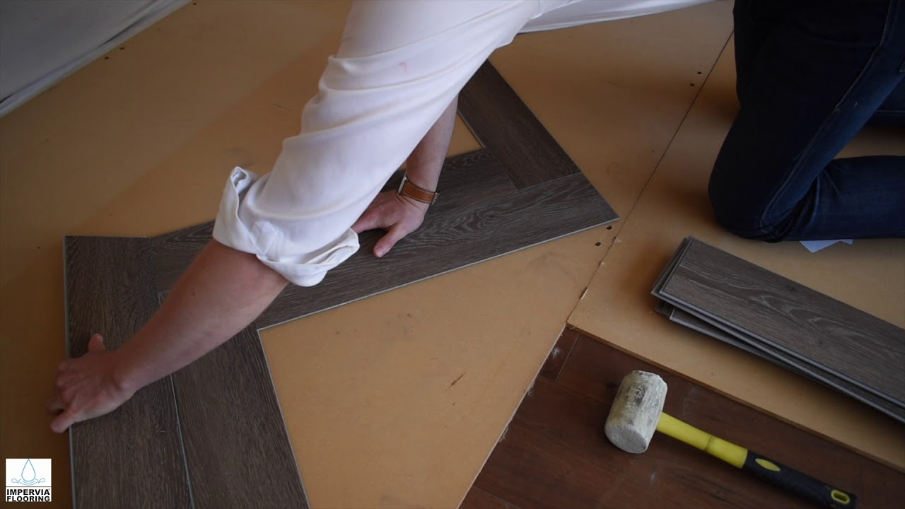 How to Install Vinyl Herringbone Flooring
