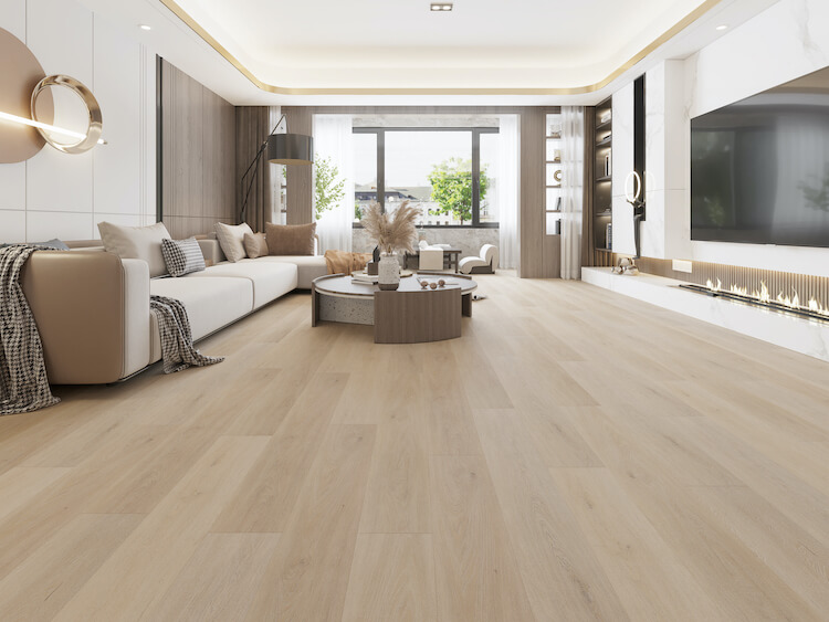 Bleached White Oak Impervia Flooring