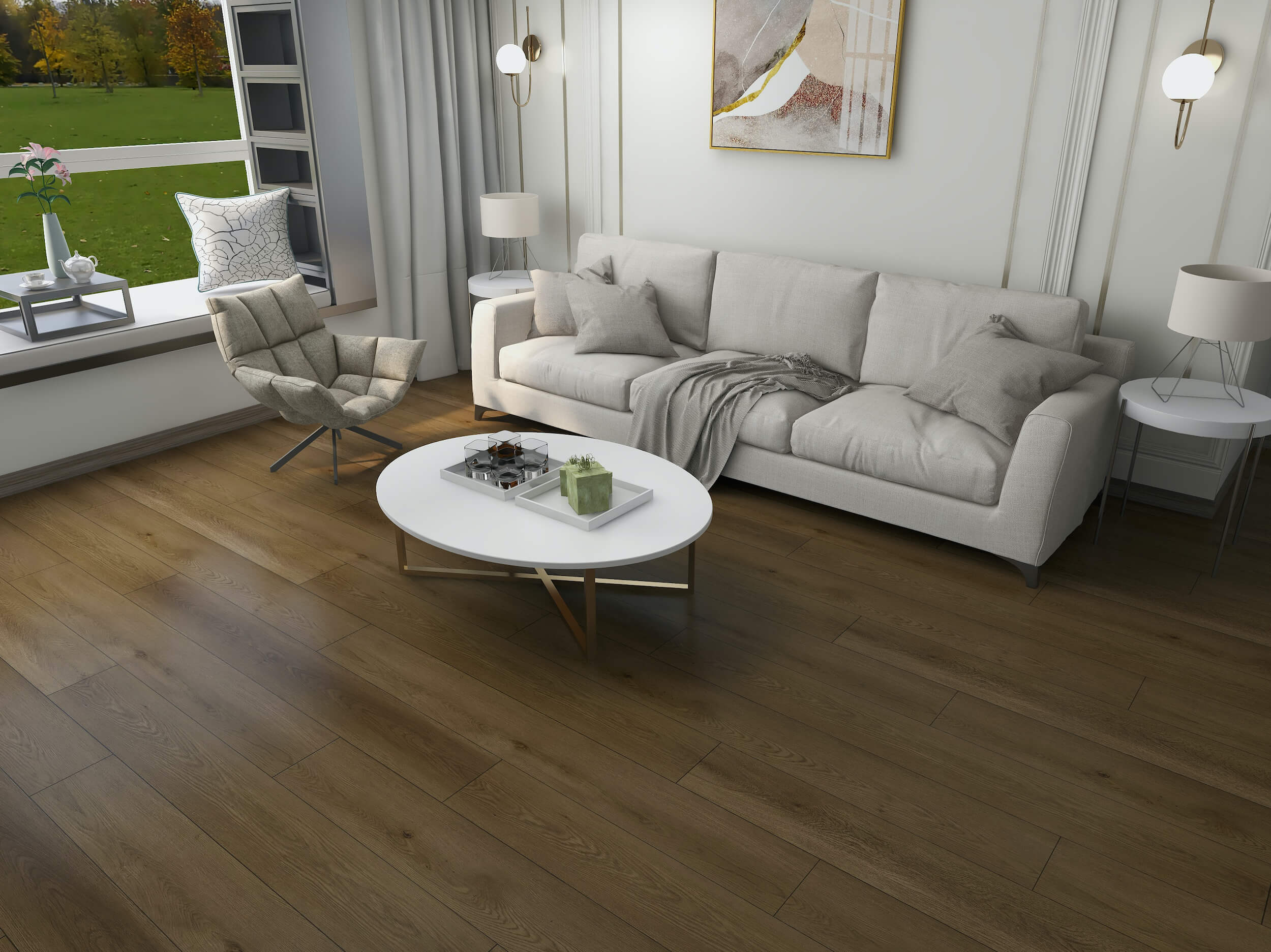 Mid Fumed Oak Impervia Flooring