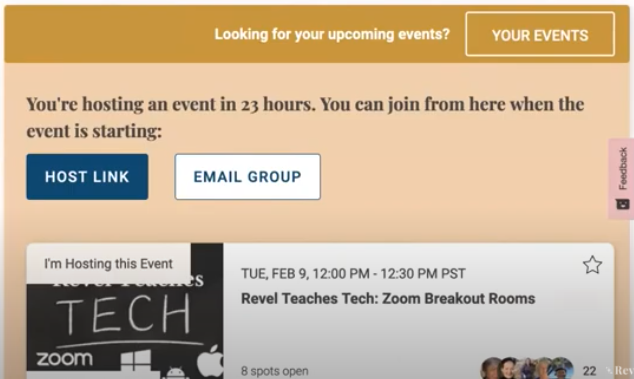 Hosting an Event - How to communicate with your attendees
